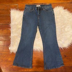Free People Wide Leg Crop Jeans